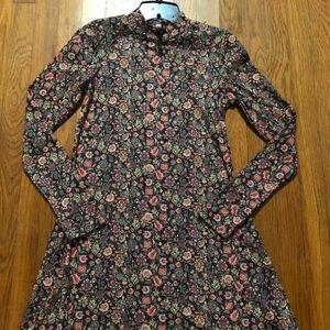 xhilaration mock neck floral dress